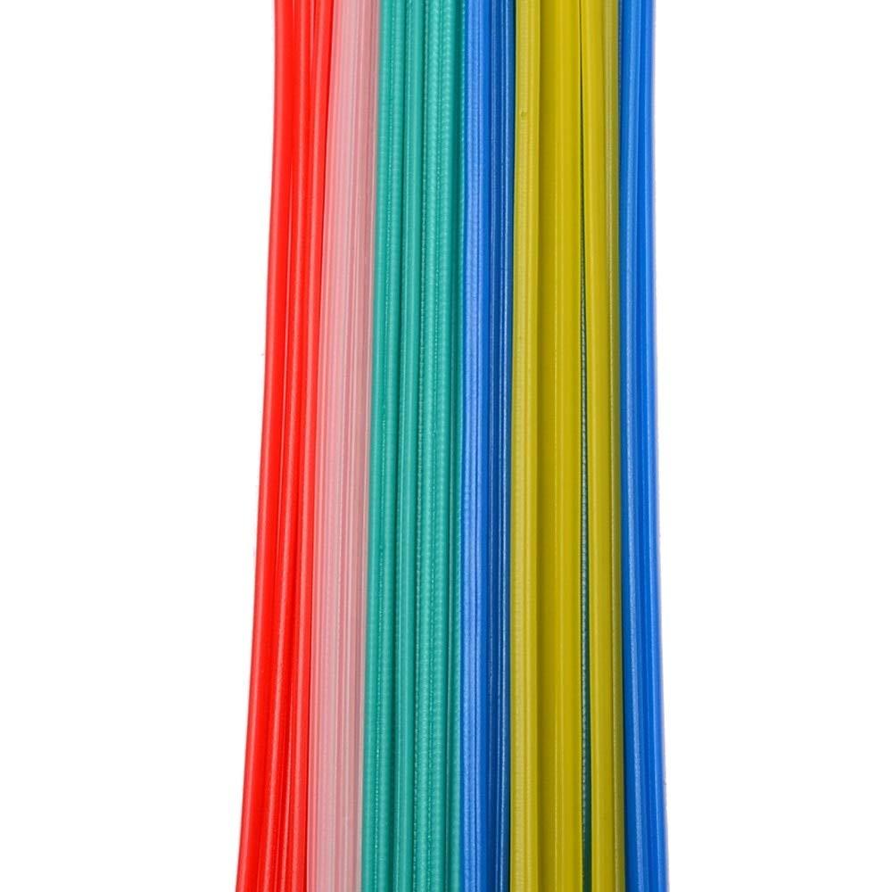 Welding Rods Elastic Perch Impressionable Retinal Fictile Pliant Gat Moldable 50pcs 25cm Length Plastic Welding Rod Welder Stick 5 Color Blue White Yellow Red Green Soldering