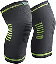 Knee Brace 2 Pack, Compression Sleeve FDA Approved, Support for Arthritis, ACL, Running, Biking, Basketball Sp