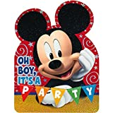 Disney Mickey Mouse Postcard Invitations | Pack of 8 | Party Supply