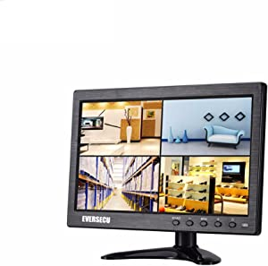 10.1 inch Small Portable Laptop Computer Monitor with HDMI VGA Port; Raspberry pi Display Screen Monitor; CCTV Monitor HD 1024x600 with Dual Speakers, MP5 USB Port, Remote(10 Inch) Gaming Monitor