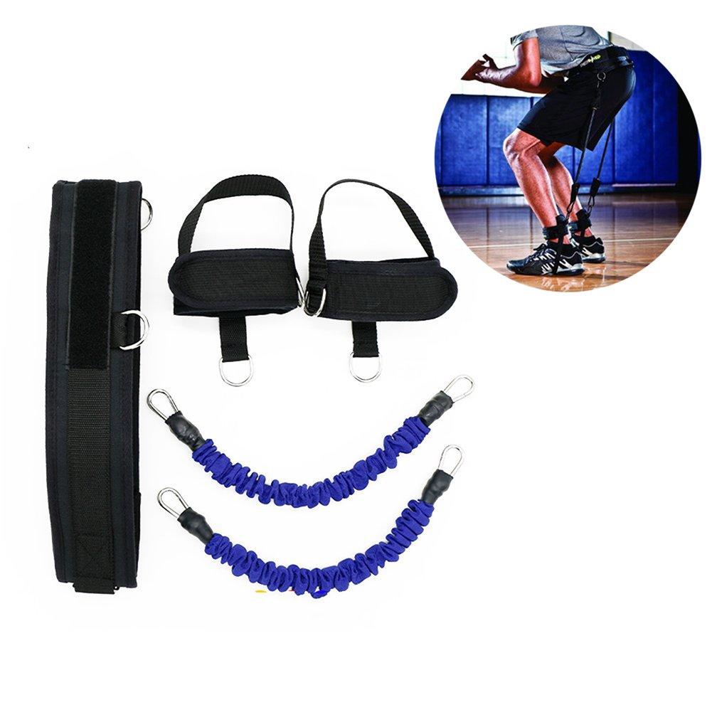 HemeraPhit Vertical Jump Trainer Set Bounce Resistance Band Agility Training Strap (Blue)