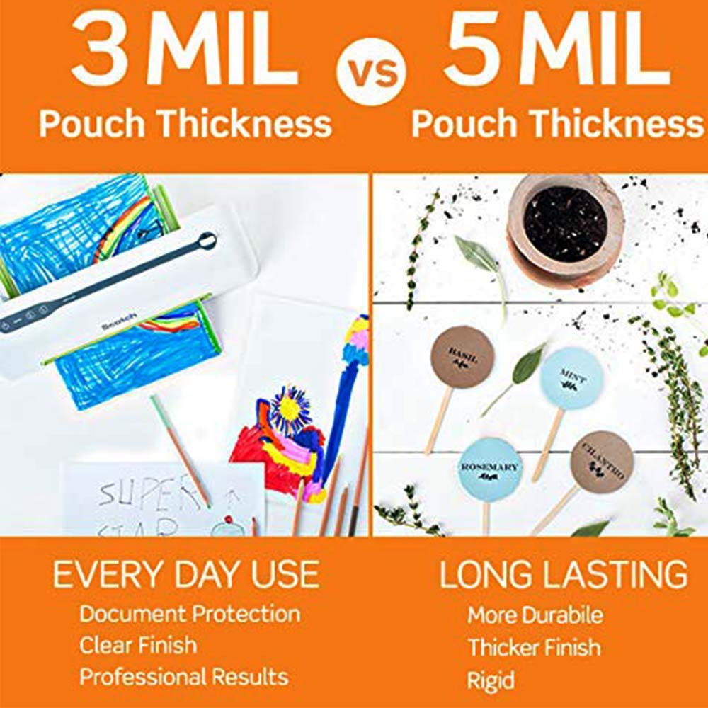 2.3 x 3.7-Inches 5 Scotch Thermal Laminating Pouches