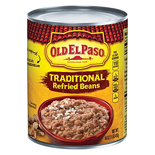 Spices Beans Green - Old El Paso Traditional Refried Beans 16 oz Can