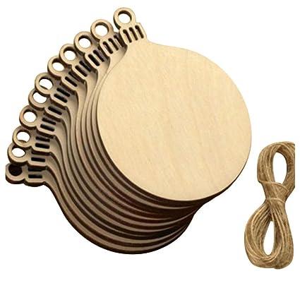 Amazon.com: YUNIAO - 10 etiquetas de madera para bolas de ...
