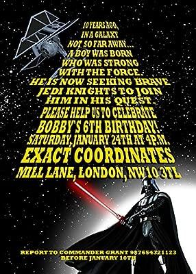 10 X Star Wars Personalizado Niños Fiesta De Cumpleaños