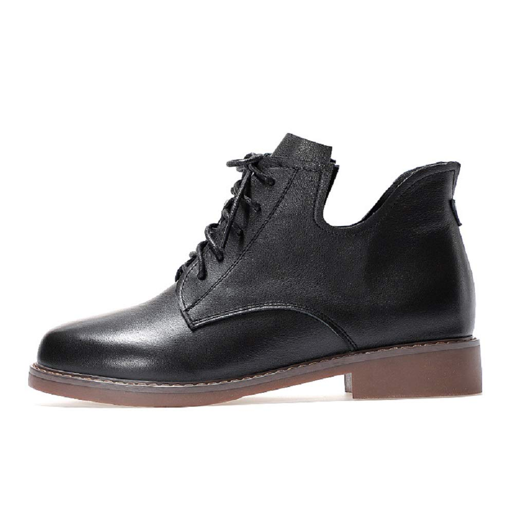 Gaslinyuan Martin Stiefel Damen Schnürschuhe aus schwarzem Leder (Farbe   Schwarz, Größe   EU 40)