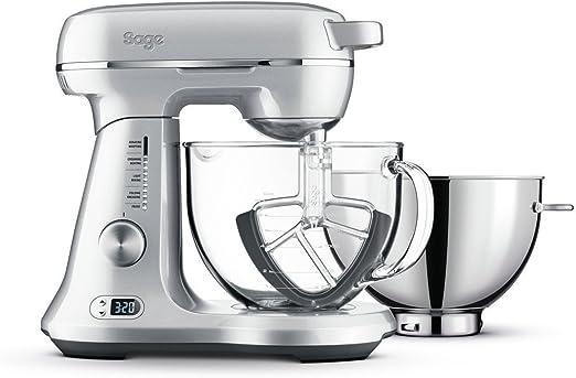 SAGE SEM825 the Bakery Boss Küchenmaschine mit 12 Geschwindigkeitsstufen,  1200 Watt