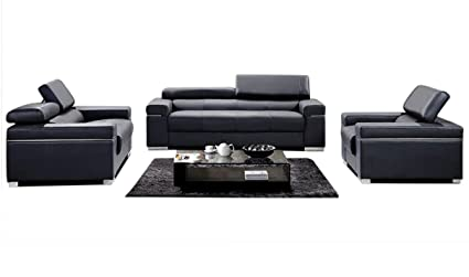 Amazon.com: J&M Furniture Soho 3-Piece Leather Living Room ...