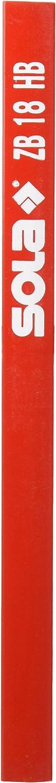 dureza HB 18 cm Pack de 100 de l/ápices de carpintero Sola ZB mina de grafito especial para madera