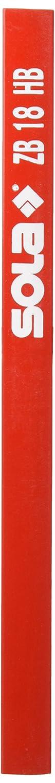 Sola ZB –  Pack von 100 Bleistifte/Latthammer, besonders fü r Holz, Graphit, Hä rte HB Mine (18 cm) Cut360 UG