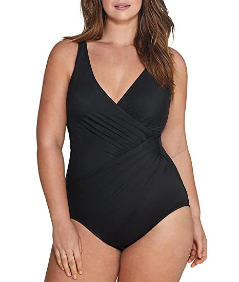 2077842b33e8d Miraclesuit Womens Plus Size Solids Oceanus One-Piece at Amazon ...