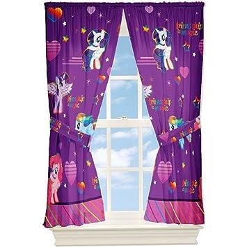 Amazon.com: My Little Pony Window Drapes Curtains Panels, Purple ...