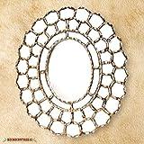 Handcrafted Silver Oval Mirror, Decorative Wood wall mirrors, Mirror for Wall Decor, Peruvian mirrors,''Treasure cuzco''