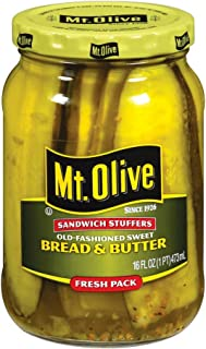 product image for MT. OLIVE Sandwich Stuffers, Bread & Butter Jar, 16 oz