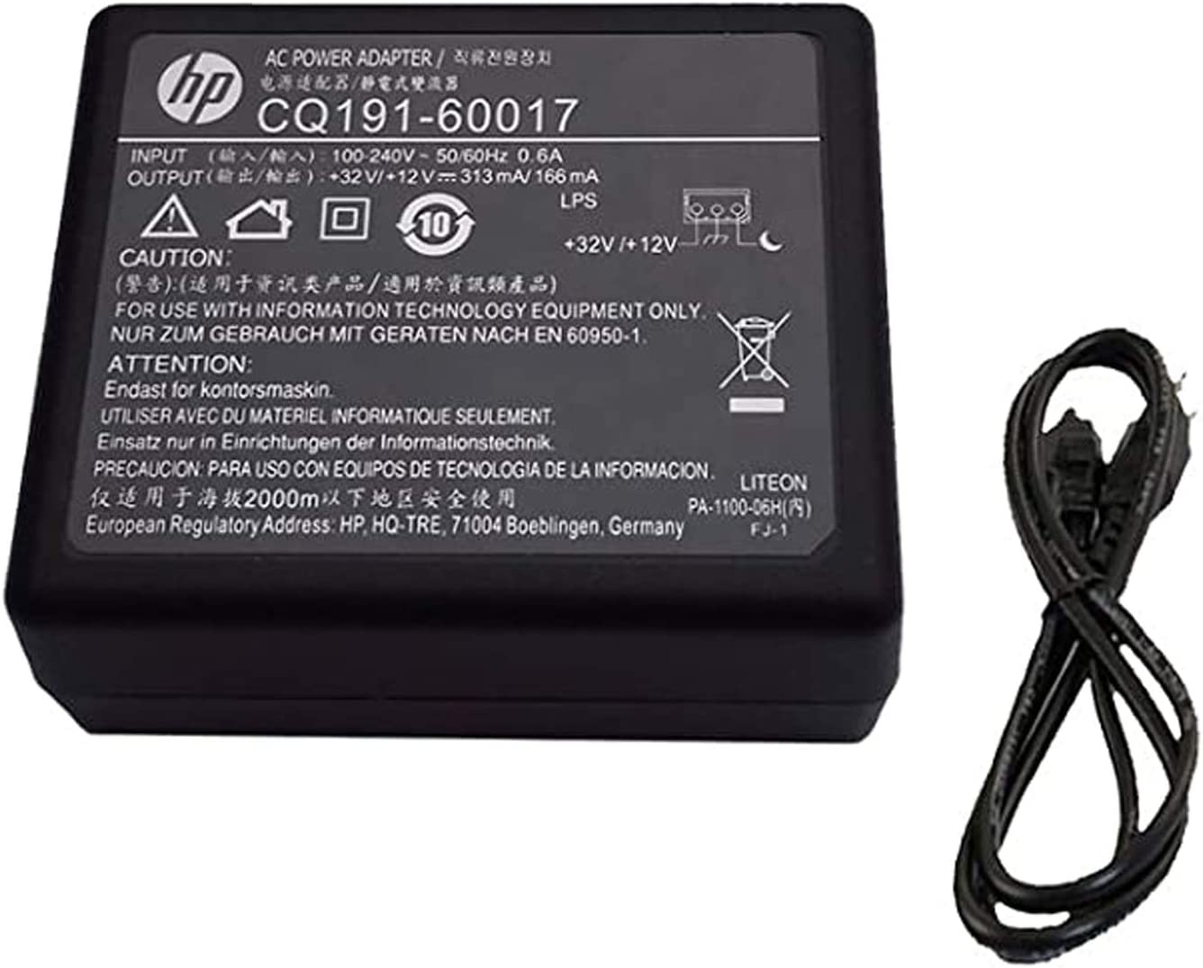 UpBright AC Adapter Compatible with Genuine HP PhotoSmart 5510 5512 5514 5515 5520 5521 5522 5524 5525 6510 6512 6515 6520 6525 5540 5541 5542 5544 5545 5546 5640 5642 5643 5644 5646 5660 5661 Printer