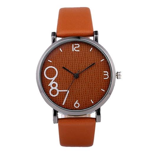 603546ab5 DAYLIN Mujer Hombre Relojes para Pareja Reloj Chica Elegante Reloj Pulsera  Analogico de Cuarzo Correa Cuero Reloj Negro Blanco Mujer Wrist Watch Joyas  ...
