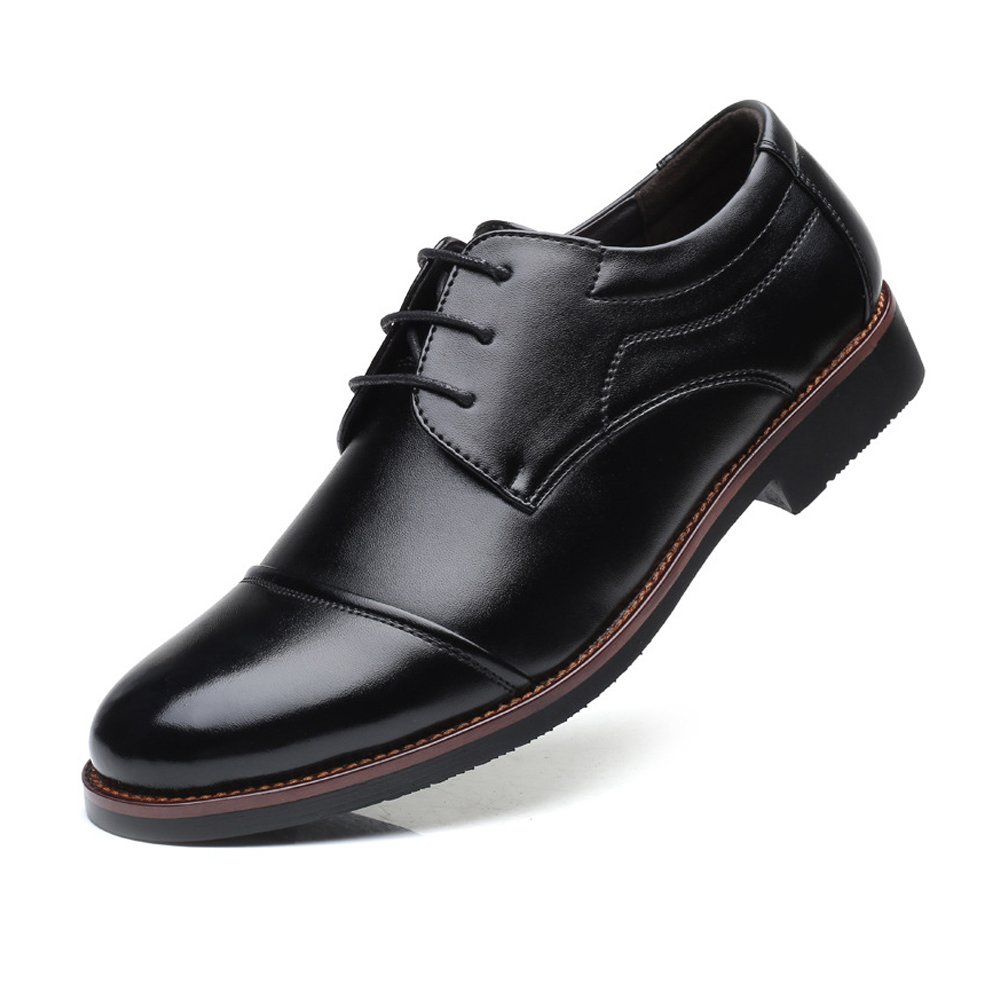 Lederschuhe Herren Lederschuhe Formale Leder Business Schuhe Matte PU Leder Formale Splice Lace up Breathed Ausgekleidet Oxfords Schwarz b00bcc