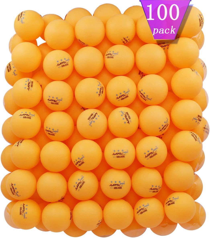 KEVENZ 1500-Pack 3-Star 40mm Table Tennis Balls,Advanced Training Ping Pong Balls Orange, White