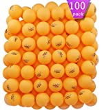 MAPOL 100 Counts 3-Star Orange Practice Ping Pong Balls Advanced Table Tennis Balls