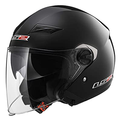 LS2 Helmets Open Face Track Helmet (Gloss Black - Large): LS2 Helmets: Automotive