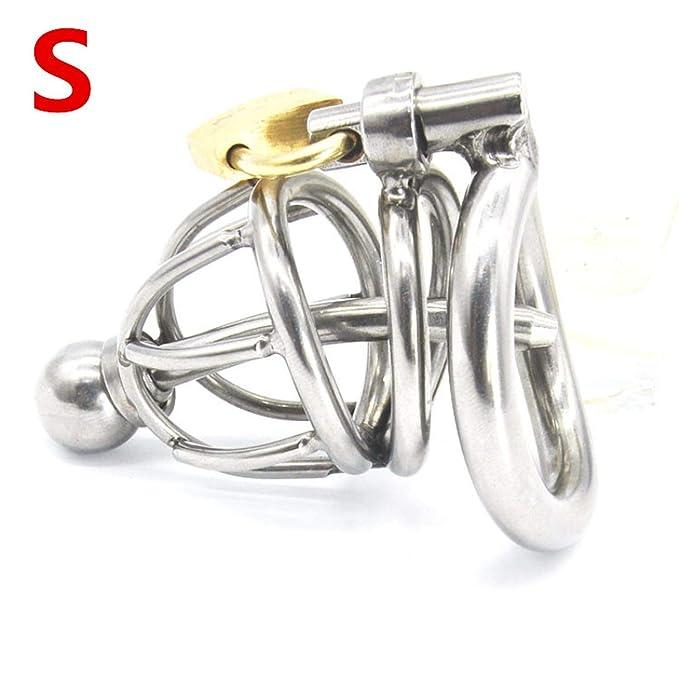 Jaula de acero inoxidable de 3 tamaños para macho, con anillo de ...