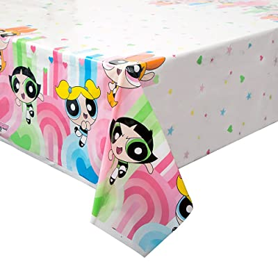 "Plastic Powerpuff Girls Tablecloth, 84"" x 54"": Toys & Games"