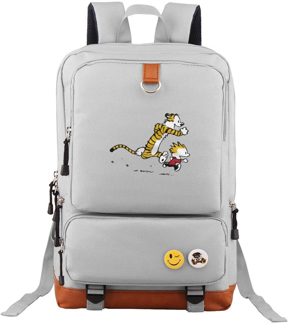 Tour Backpack Calvin And Hobbes Tiger Laptop Bag Funny Bookbag College Daypack