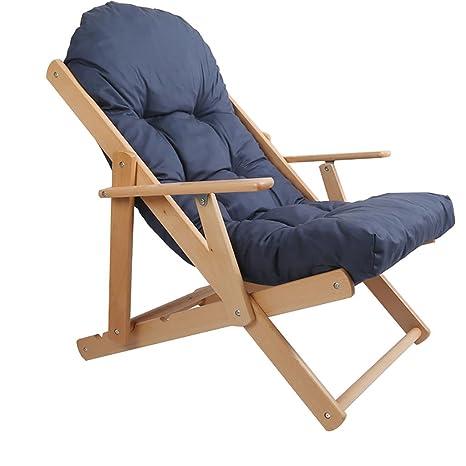 ZDYHQ Ocio reclinable Plegable Silla de Madera Maciza ...