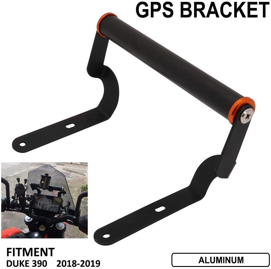 Black Windscren Bracket Mount Smartphone//GPS Holder For KTM Duke 390 2017-2019