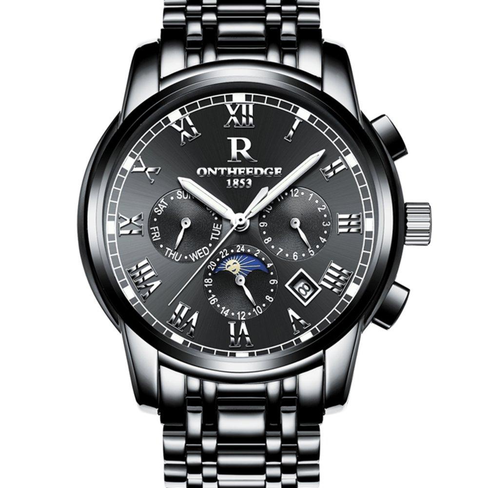 Men 'sステンレススチールWatch / Hollow Outファッション腕時計/ Luminous防水watch-f B06XJP49HS