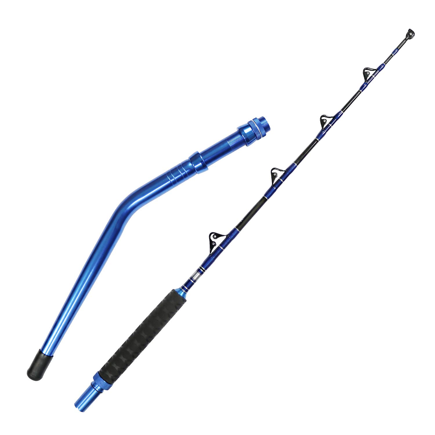 Bent Butt Fishing Rod 80-120lb 2-Piece Trolling Rod Saltwater Offshore Rod Conventional Boat Fishing Pole (5'6'')