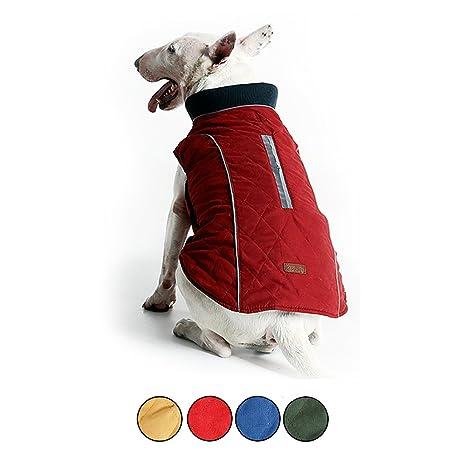 HongYH Abrigo de Perro Acogedor a Prueba de Viento de Estilo británico Chaqueta de Perro a