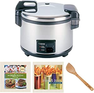 Zojirushi NYC-36 20-Cup (Uncooked) Commercial Rice Cooker and Warmer, Stainless Steel with Set of 2 Cookbooks and 15