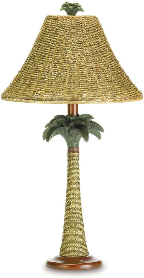 Koehler 37989 25.5 Inch Palm Tree Rattan Table Lamp