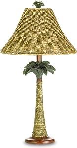 Koehler 37989 25.5 Inch Palm Tree Rattan Table Lamp