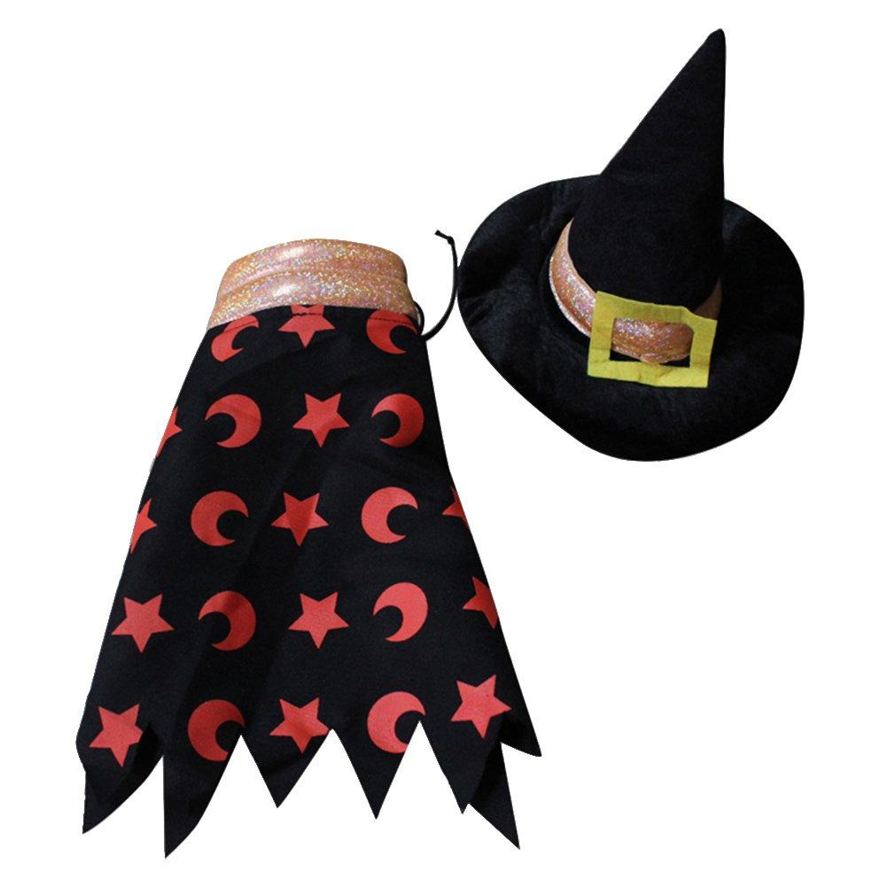 POPETPOP Costume Stregone per Cane da Halloween Vestiti e Cappello Per Grande Cani L