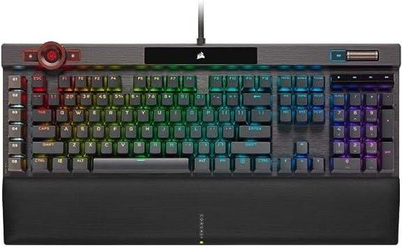 Corsair K100 RGB, retroiluminación LED RGB, Switchs Cherry MX Speed, Negro