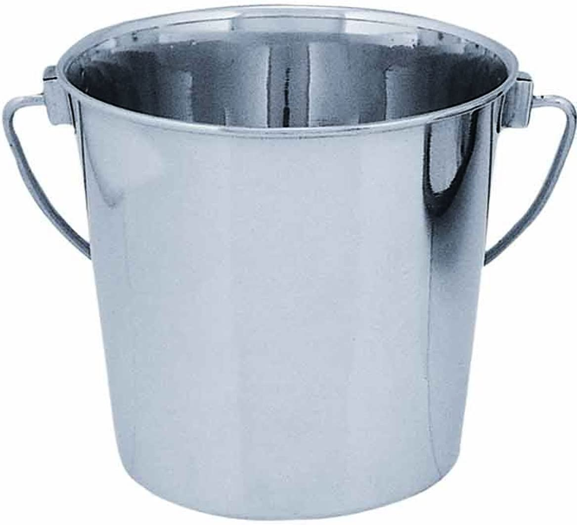 QT Dog Round Stainless Steel Bucket, 1 Quart