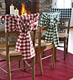 Decorative Indoor/Outdoor Gingham Check Chair Bow`