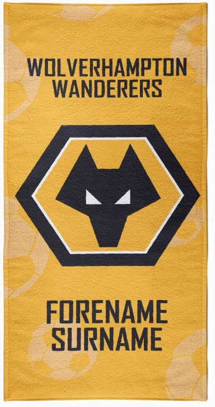 Wolverhampton Personalised Towel - Geometric Design - Medium
