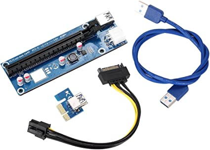 USB 3.0 Riser PCI-E 6Pin GPU Extender Card Adapter Cable for Mining NEW 5 Pack