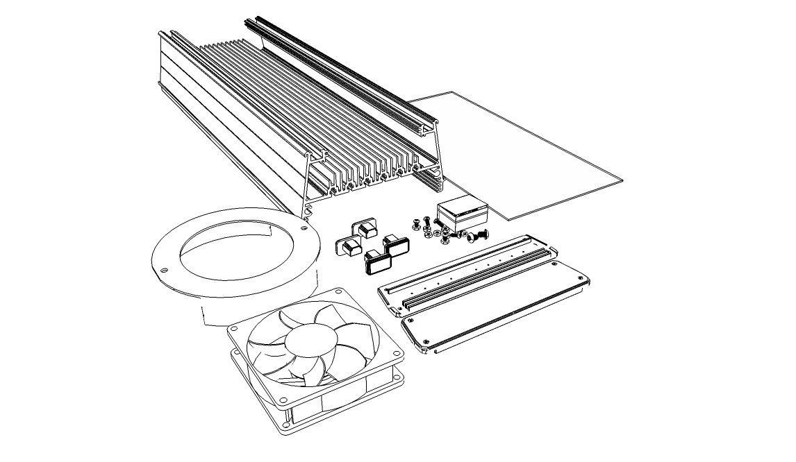 MakersLED Designer Heatsink Kit - Professional Grade - Anodized 36 Inches