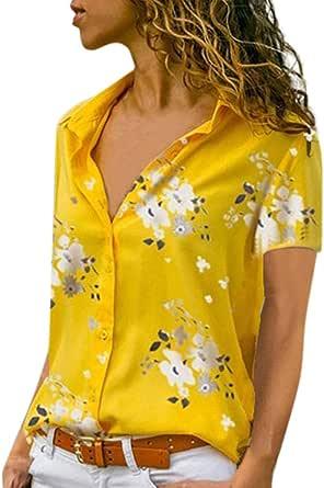 Blusa Camiseta Mujer Verano Moda Tallas Grandes Manga Corta Impresión Camisa Cuello Redondo Basica Camiseta Suelto Tops Casual Fiesta T-Shirt Original ...