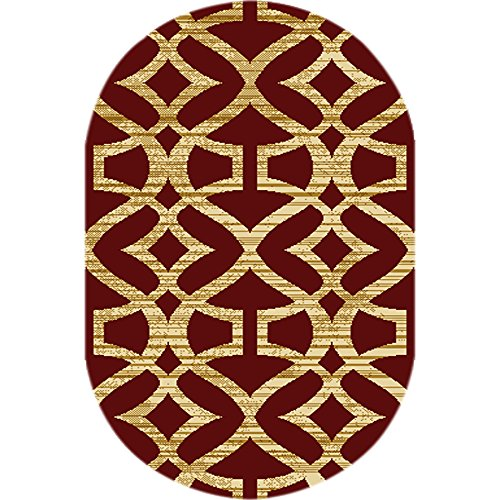 Home Dynamix HD5396 200 Royalty Collection Oval Area Rugs, 31 By 50 Inch,  Red