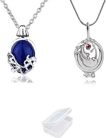YouU Juego de 2 collares de las diarias vampíricas de Katherine Pierce y collar de Elena Gilbert con caja de almacenamiento