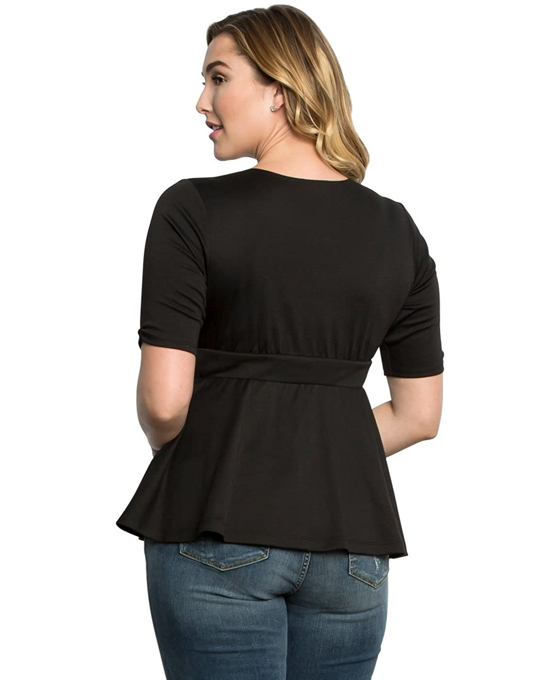 ad564f9077f Kiyonna Women s Plus Size Posh Ponte Peplum Top at Amazon Women s Clothing  store  Fashion T Shirts