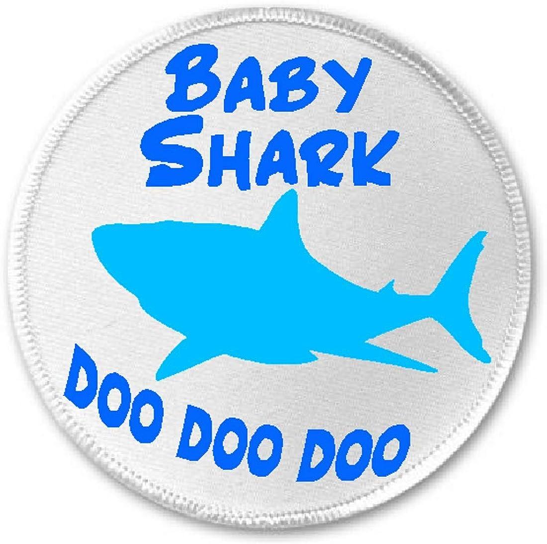 """Baby Shark Doo Doo Doo - 3"""" Sew/Iron On Patch Song Meme Kids Humor"""