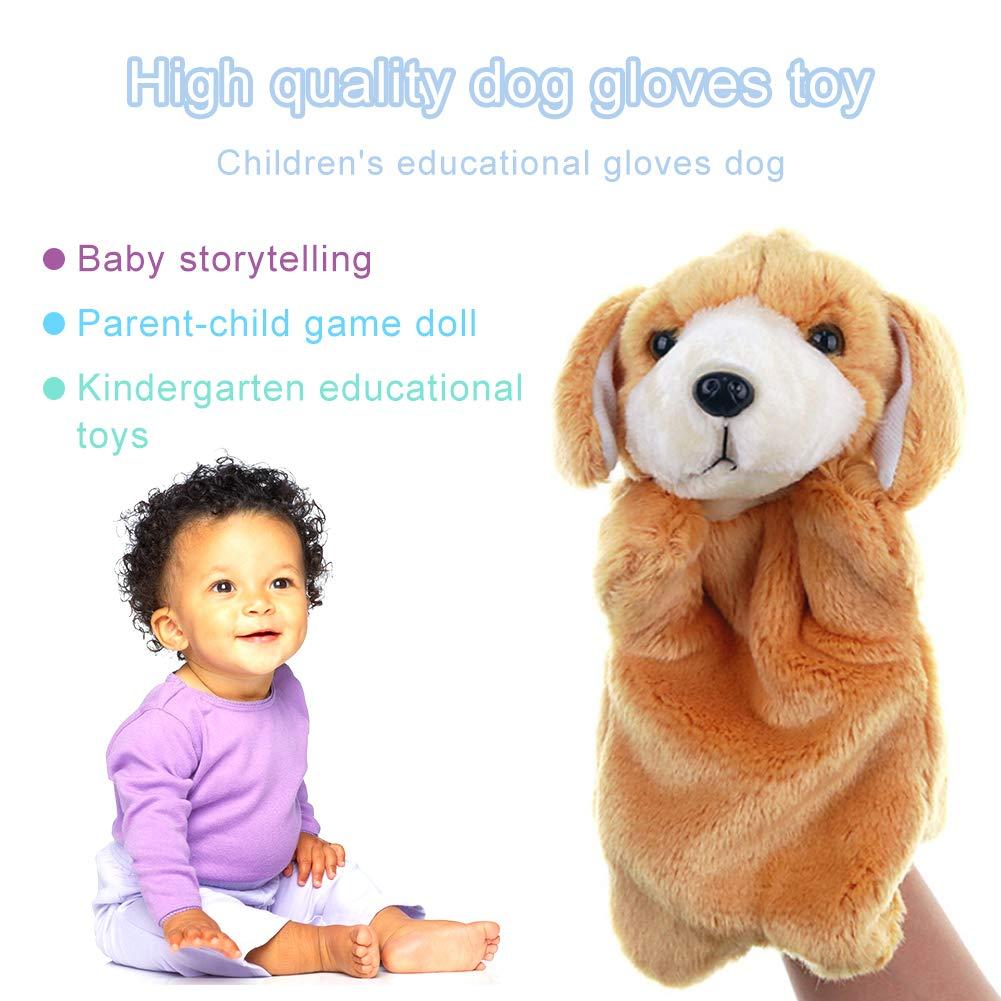 LAANCOO Pl/üschtiere/Handpuppen Hund Tier Handpuppe f/ür Kinder Rollenspiel Handpuppen Interaktive Flauschige/Handpuppen