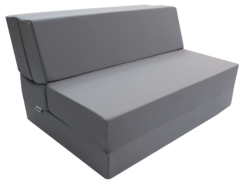 Merax Convertible 5-Folding Foam Sleeping Mattress Sofa Bed and Floor Mat (full - grey)