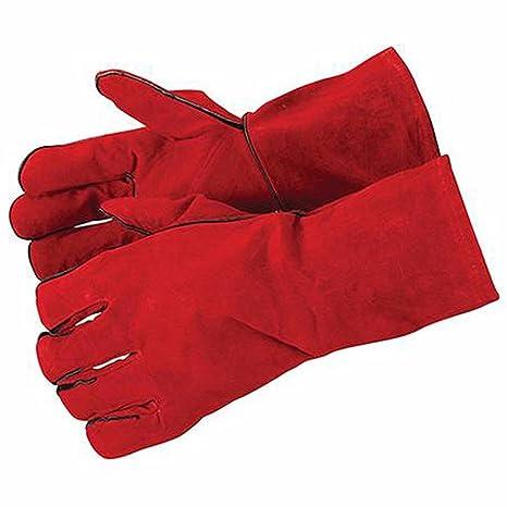 Soldadores guantes con puños longitud 330 mm para mayor protección – totalmente forrado guantes de vaca